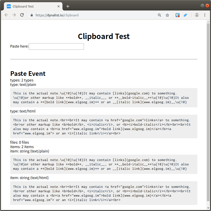 Copy/pasting into note drops markup - 🐛Bugs - Dynalist Forum