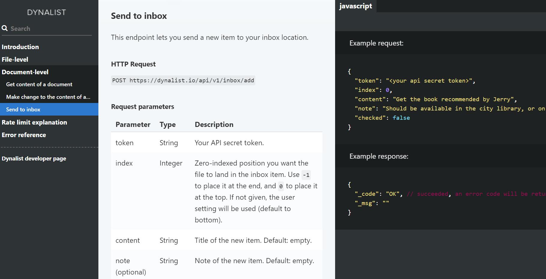 Quick add to Dynalist inbox using AutoHotKey - 🌈Share