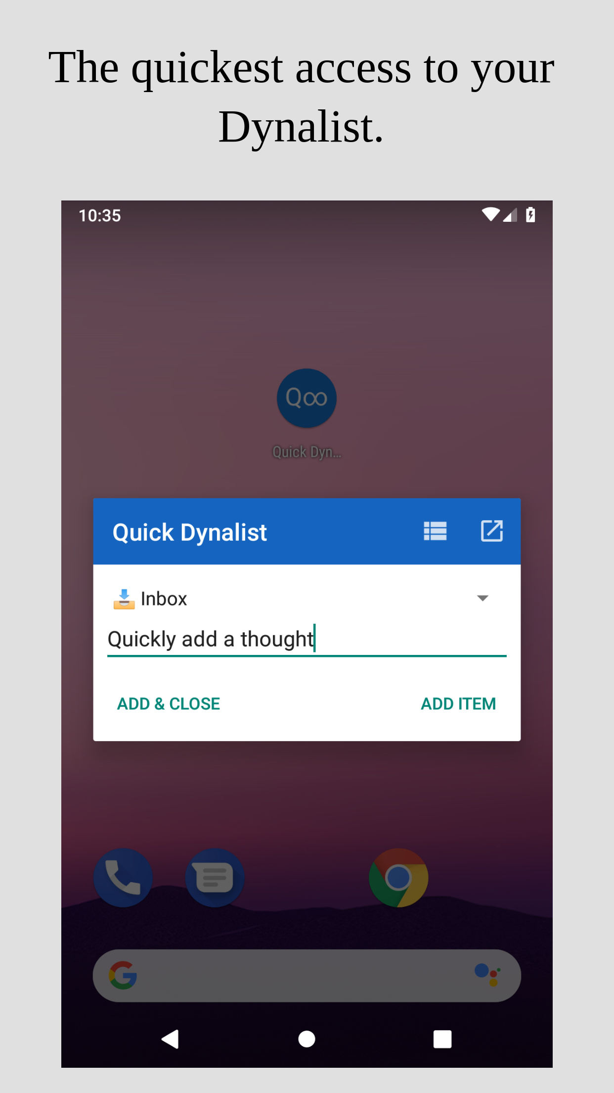 Quick Dynalist - The native Android app for Dynalist
